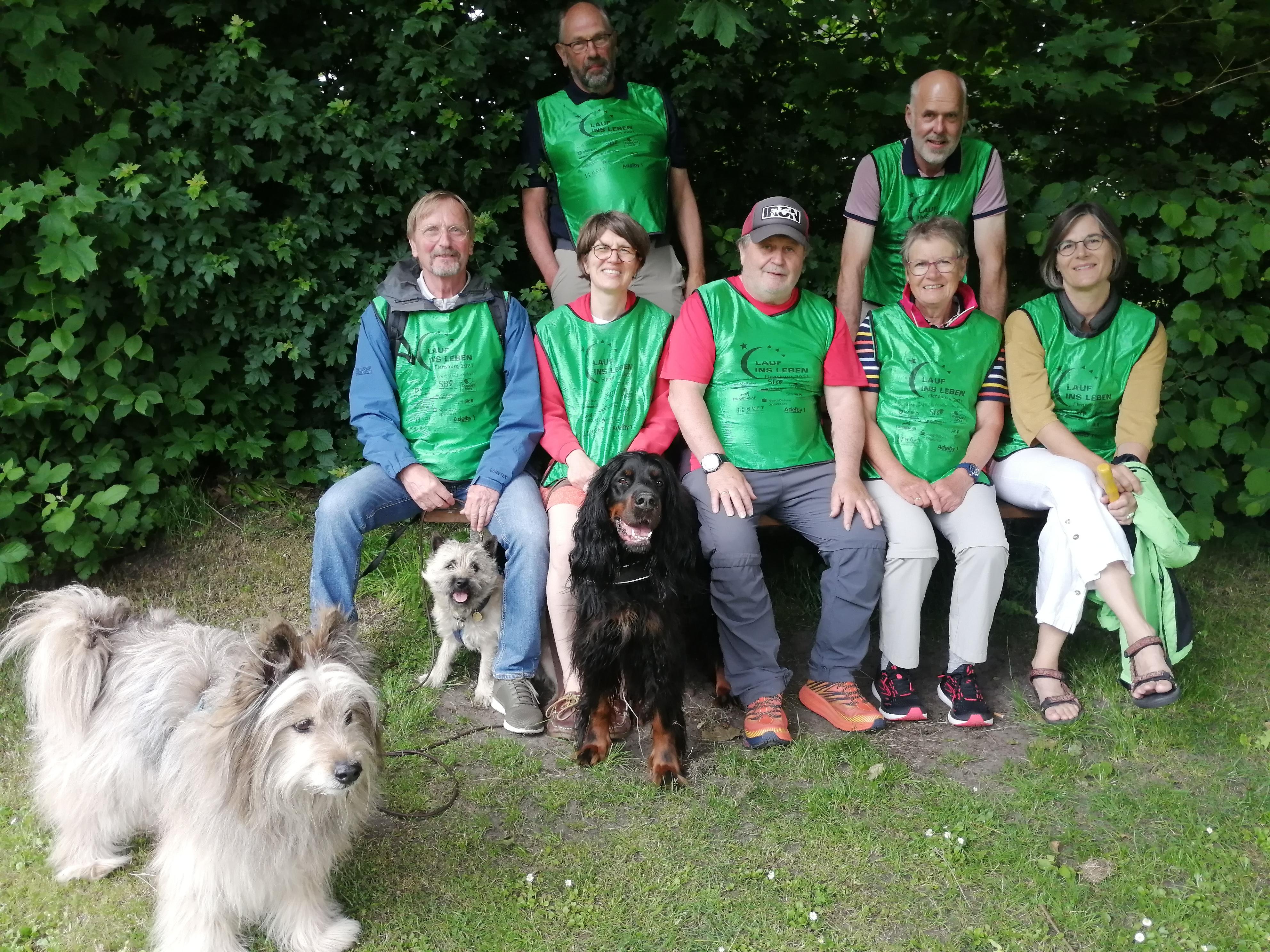 Teilnehmer vom Lauf ins Leben Flensburg 2021